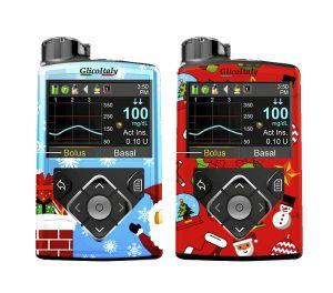 """Cover """"Natale"""" compatibili con il Medtronic 670g® 640g®"""