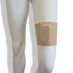 Banda de pierna: Beige