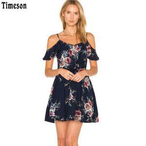 Timeson Summer Floral Print Chiffon