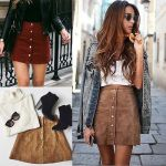 Estate lace up pencil skirt
