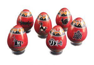 AF331 - 6 uova con 6 disegni