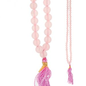 Collana Mala sfere Quarzo rosa