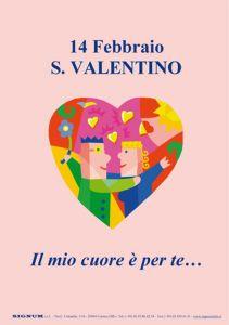 Cartello A4 di San Valentino