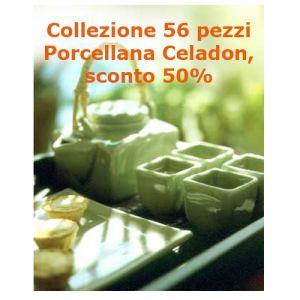 Offerta 56 pezzi Porcellana Celadon, sconto 50%