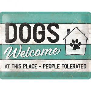 23246 PfotenSchild - Dogs Welcome