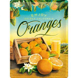 Cartello Enjoy Oranges blue sky