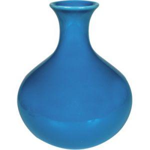 Vasetto ceramica azzurro