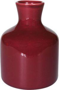 Vasetto ceramica bottiglia rosa antico