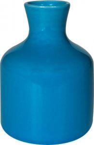 Vasetto ceramica bottiglia azzurro