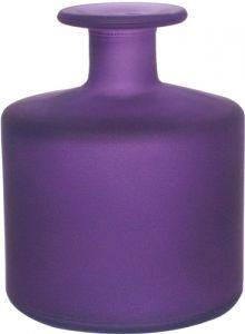 Vasetto vetro satinato cilindro viola