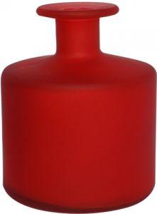 Vasetto vetro satinato cilindro rosso