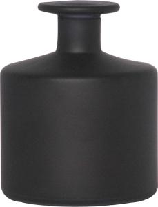Vasetto vetro satinato cilindro nero