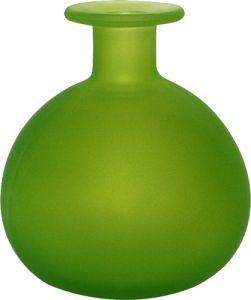 Vasetto vetro satinato tondo verde