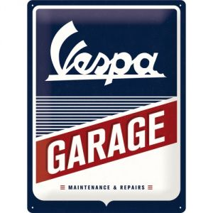 Cartello Vespa - Garage