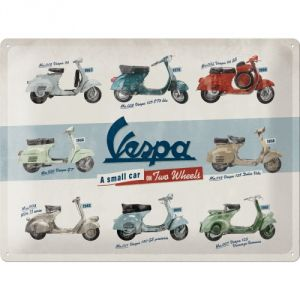 Cartello Vespa - Model Chart