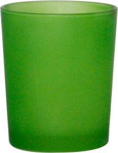 B7111 - photophore in vetro satinato verde