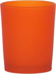 B7112 - photophore in vetro satinato arancio