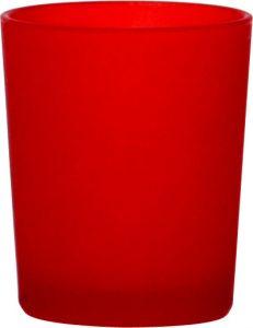 B7113 - photophore in vetro satinato rosso