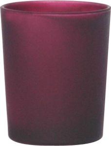 B7117 - photophore in vetro satinato prugna