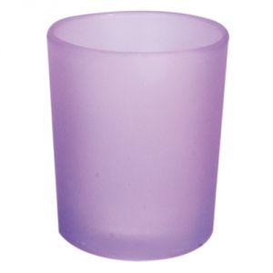 B7125 - photophore in vetro satinato lilla