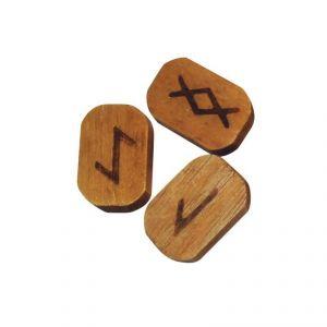 Rune in legno