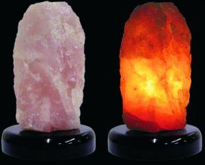 Lamp-quarzo rosa