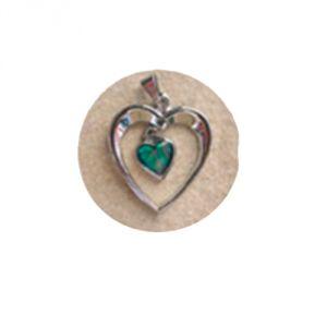Ciondolo Paua - Cuore piccolo dentro cuore grande