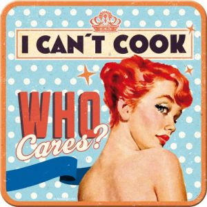 Sottobicchiere Pin up - I can't cook