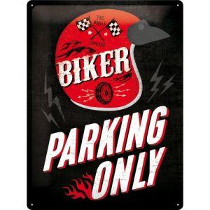 Cartello Biker Parking only