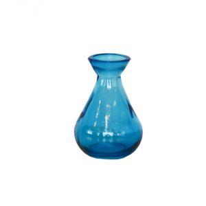 Vasetto vetro riciclato - blu
