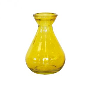 Vasetto vetro riciclato - giallo
