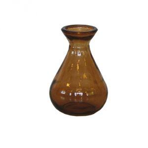 Vasetto vetro riciclato - marrone