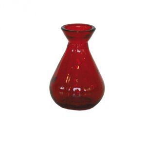 Vasetto vetro riciclato - rosso