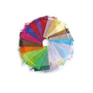 Sacchetto di organza colorato (12 pezzi uguali o assortiti)