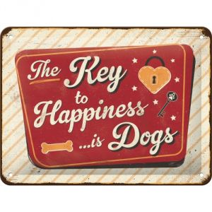 Cartello The key to happiness... is dogs