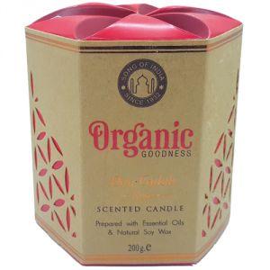 Candela organica, profumazione Rosa