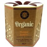 Candela organica, profumazione Gelsomino