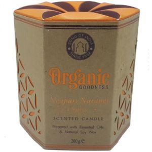 Candela organica, profumazione Arancia