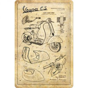 Cartello  Vespa - Parts Sketches