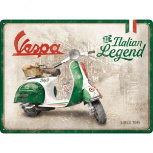 Cartello Vespa - Italian Legend