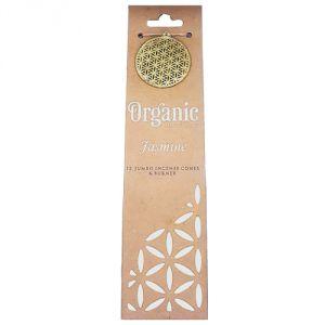 Confezione con 12 conetti di  incenso organico - Gelsomino