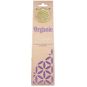 Confezione con 12 conetti di  incenso organico - Lavanda