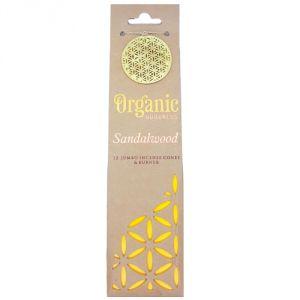 Confezione con 12 conetti di  incenso organico - Legno di sandalo