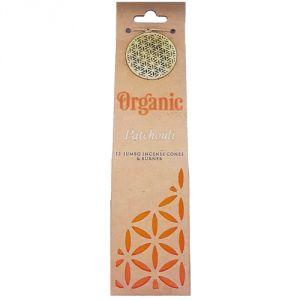 Confezione con 12 conetti di  incenso organico - Patchouli