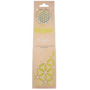 Confezione con 12 conetti di  incenso organico - Vaniglia