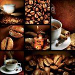 Pannello 10 x 10 cm, caffè collage.