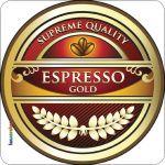 Pannello 10 x 10 cm, espresso tondo.