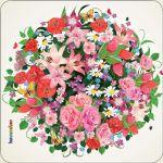 Pannello 10 x 10 cm, fiori.