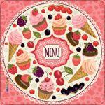 Pannello 10 x 10 cm, menu rosa.
