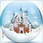 Pannello 10 x 10 cm, palla di neve.